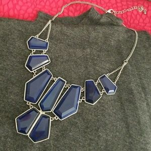 Charming Charlie Large Blue Statement Necklace